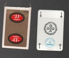 JEU DE CARTE PUBLICITAIRE BIERE 33 EXPORT..FERON MADE IN FRANCE..NEUF SAUF LA BOITE - 32 Cartes
