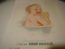 ANCIENNE PUBLICITE BEBE NESTLE 1938 - Affiches