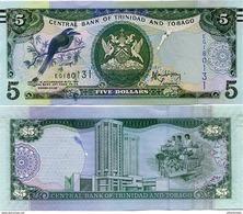 TRINIDAD & TOBAGO       5 Dollars       P-New      2006 (2014)     UNC [ Sign. Rambarran ] - Trinité & Tobago