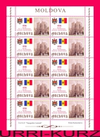 MOLDOVA 2009 Flag Coat Of Arms Building Of President Palace Statehood Of Moldova 650th Anniversary Sheetlet Mi Klb.641 - Stamps