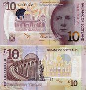 SCOTLAND - BoS     10 Pounds      P-131a       1.6.2016       UNC - Scozia