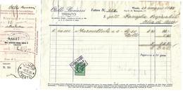 FAT119 - FATTURA 1935- OTELLO BONAZZI TRENTO - MARCHE DA BOLLO - Italia