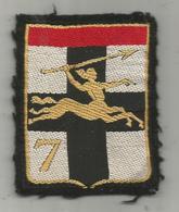 écusson Tissus ,militaria ,7 E DB , 7 E Division Blindée , 2 Scans - Ecussons Tissu