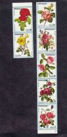 Paraguay 1974 Flowers Michel#2537-2543 Strip Of 5 And Pair, Mint Never Hinged - Paraguay