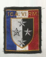 écusson Tissus ,militaria , 1 Er Corps D'Armée, VI Région Militaire , 2 Scans - Ecussons Tissu