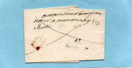 """Cursive """"53 SAMPIGNY""""-""""OR"""" Et P.P. Pour COMMERCY,le 15/8/1830. - Marcophilie (Lettres)"""