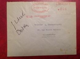 Villeurbanne Blanchet - Marcophilie (Lettres)