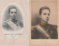 18 / 7 / 426 -  2. CPA. - ALPHONSE  XIII , ROI  D'ESPAGNE - Familles Royales