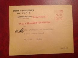 Lyon Comptoir D'escompte Paris - Marcophilie (Lettres)