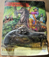 Rare Pistolet Pétard Dans Saon Emballage Avec Pétards De Conquistador  Années 70-80 - Jouets Anciens