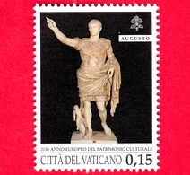 Nuovo - MNH - VATICANO - 2018 - Anno Europeo Del Patrimonio Culturale - Augusto Di Prima Porta  - 0.15 - Unused Stamps
