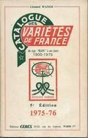 Catalogue Des Variétées De France Au Type Blanc A Nos Jour 1900 - 1975 Ceres - Francia