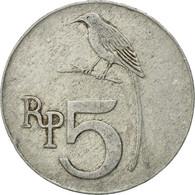 Monnaie, Indonésie, 5 Rupiah, 1970, TTB, Aluminium, KM:22 - Indonésie