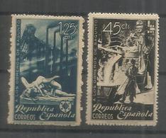 ESPAÑA 1938 MH CHARNELA OBREROS DE SAGUNTO INDUSTRIA - Profesiones