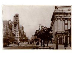 Espagne Madrid Calle De Alcala Y Banco Del Rio De La Plata Tram Tramway - Madrid