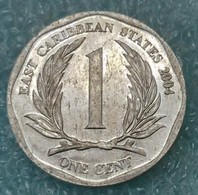Eastern Caribbean 1 Cent, 2004  ↓price↓ - East Caribbean States