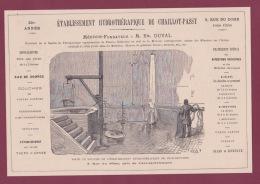 270718  - Document 1878 Pub ETS  MEDECIN EM DUVAL HYDROTHERAPIE DE CHAILLOT PASSY Eau De Source - Francia