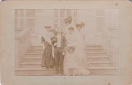 76 GOMMERVILLE, Noce Berland-Brument, Mariés Et Demoiselles, Photographie Argentique 13x9,5, 1907, Collée Sur Carton - Photography