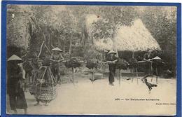 CPA ANNAM Indochine Asie Types écrite Métier Teinturier - Viêt-Nam