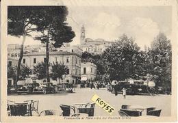 Abruzzo-chieti- Francavilla Al  Mare A Mare Vista Dal Piazzale Sirena Auto Epoca Persone Tavoli Bar Animata Anni 40/50 - Italia