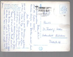 U3210 Postcard 1963 - WROCLAW, AERIAL VIEW + NICE TIMBRE AND LETTRE _ FOT. GRZEDA - Polonia