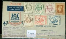 L.P.  KLM BRIEFOMSLAG Gelopen In 1946 Van LANGEZWAAG Naar JOHANNESBURG PROEFVLUCHT NEDERLAND - ZUID AFRIKA  (11.244) - Period 1891-1948 (Wilhelmina)