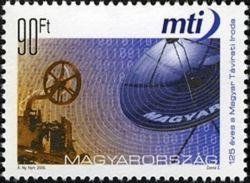 Hongrie Hungary Magyar 4088 Communication , Agence De Presse , Parabole , Télégraphe - Telecom