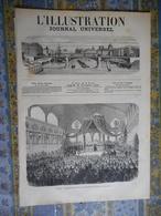 L ILLUSTRATION 16/11/1872 LYON TRAIN INONDATIONS ITALIE ALBENGA PISE ARNO ARMEE PRUSSE BEAUX ART BLANCHARD MERSON - Newspapers