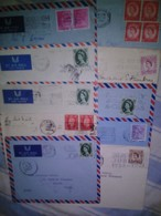 Great Britain Collection Of Used 10 Different Covers - Marcophilie