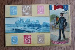 CARTE REPRESENTATION DE TIMBRES - FACTEUR - POSTE FRANCAISE - Stamps (pictures)