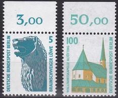Berlin, 1989-1990, Sehenswürdigkeiten- SWK 834, 863 ** Mit Oberrand - [5] Berlin