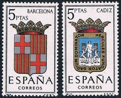Espagne - Armoiries De Provinces 1114 + 1117 (année 1962) + 1180 (année 1963) ** - 1961-70 Neufs