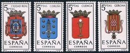 Espagne - Armoiries De Provinces 1151 + 1153 + 1154 + 1156 (année 1963) ** - 1961-70 Neufs
