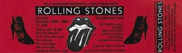 ROLLING STONES CONCERT TICKET SAN FRANCISCO 1981-10-18 - Tickets De Concerts