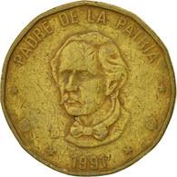 Monnaie, Dominican Republic, Peso, 1991, TTB, Laiton, KM:80.1 - Dominicana