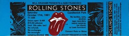 ROLLING STONES CONCERT TICKET SAN FRANCISCO 1981-10-17 - Tickets De Concerts