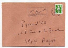 Flamme--ROANNE  PPAL -42--1991-30ème Anniv AMNESTY INTERNATIONAL -Type Marianne Bicentenaire --belle Empreinte - Marcophilie (Lettres)