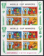 Soccer World Cup 1978 - NORTH KOREA - Sheet Perf.+imp. MNH - 1978 – Argentina