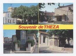 66-Theza - Clocher - Mairie - Monument Aux Morts - Vieille Pompe à Eau-RECTO / VERSO-B22 - Otros Municipios