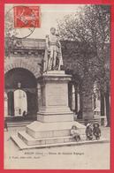CPA-32-AUCH-Statue Du Général ESPAGNE-Animation- **- 2 SCANS - Auch