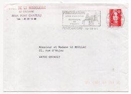 Flamme--PONTCHATEAU-44-Hippodrome Du Calvaire -Type Marianne Bicentenaire D-personnalisée Foyer.... - Postmark Collection (Covers)
