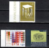 FL+ Liechtenstein 2010 Mi 1558-60 Mnh Jahrestage - Liechtenstein