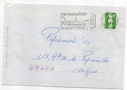 Flamme--1992--ROCHEFORT SUR LOIRE-Plage,Camping,Piscine,vins--Type Marianne Bicentenaire - - Marcophilie (Lettres)