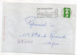 Flamme--1992--ROCHEFORT SUR LOIRE-Plage,Camping,Piscine,vins--Type Marianne Bicentenaire - - Storia Postale