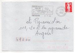 Flamme--1992--MONTRICHARD-41-20ème Anniv Salon Des Antiquaires--Type Marianne Bicentenaire -scotem 18388 - Postmark Collection (Covers)