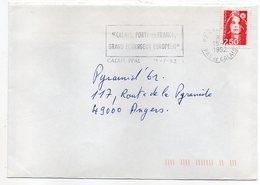 Flamme--1992--CALAIS PPAL-62 -Grand échangeur Européen--Type Marianne Bicentenaire - Postmark Collection (Covers)