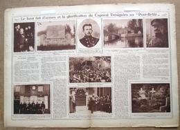 """Magazine Avec Article """"Le Haut Fait D'armes Et La Glorification Du Caporal Trésignies Au Pont-Brûlé"""" 1923 - 1914-18"""
