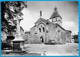 CPSM 07 St SAINT-FELICIEN Ardèche - Place De L' Eglise (Auto 203 Peugeot Break) ° Cim Combier * Croix - France