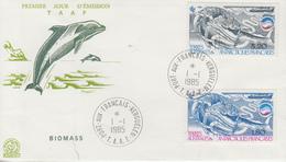 Enveloppe   FDC   1er  Jour   T.A.A.F     La   Biomasse   1985 - FDC