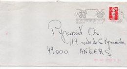 Flamme--1992--DEAUVILLE--14--Ici On Aime Bien Les Chevaux,hippodromes-Type Marianne Bicentenaire- - Marcophilie (Lettres)